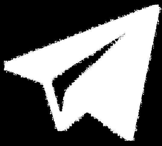 лого telegram белый