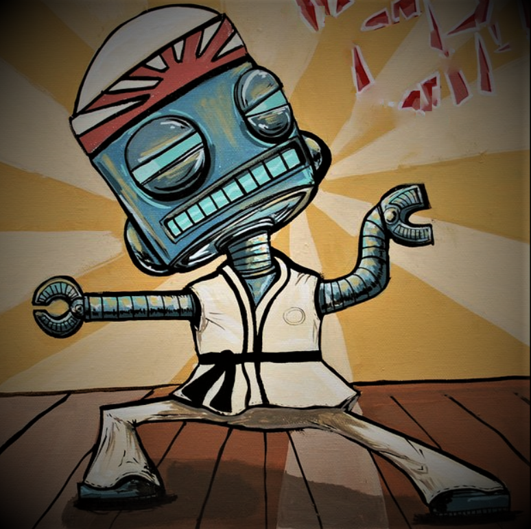 Robot & Martial arts