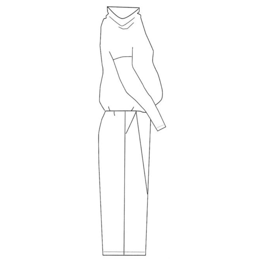 Дизайн одежды (платья) проекция 3.