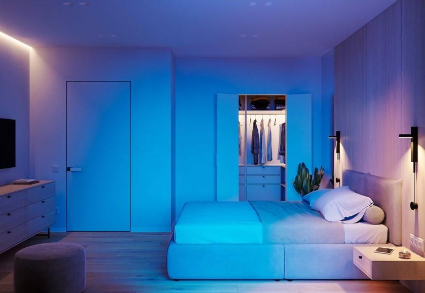 Цвет в спальнях в 2021