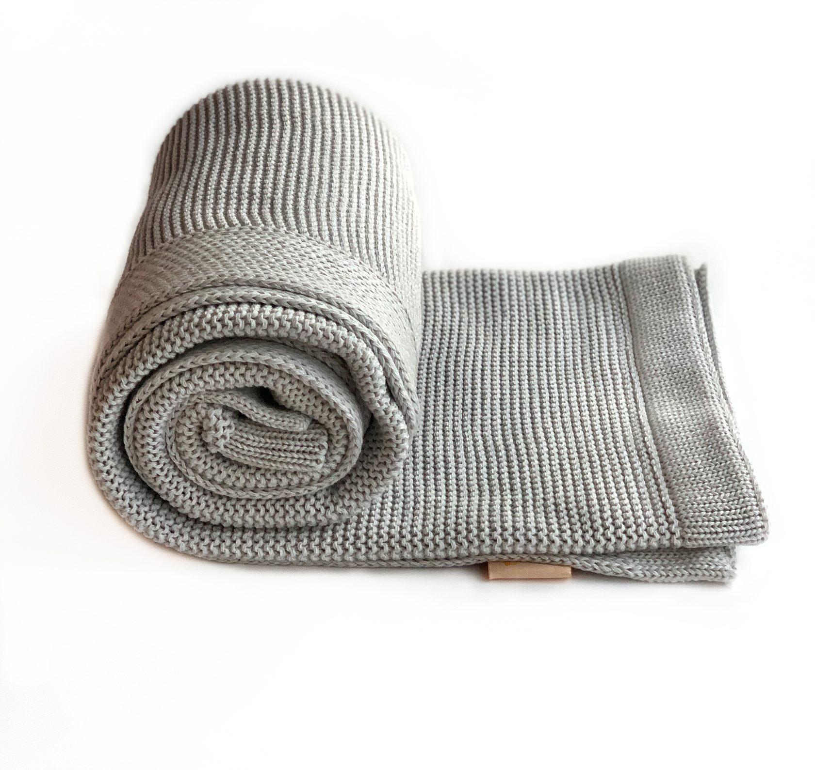 Хлопковый плед Classic светло-серый купить в интернет-магазине toucankids.ru от производителя по низкой цене