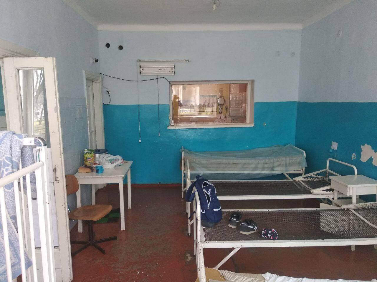 Палата  в инфекционном отделении Центральной районной больницы г. Винница
