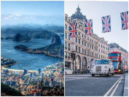 Лондон и Рио в январе
