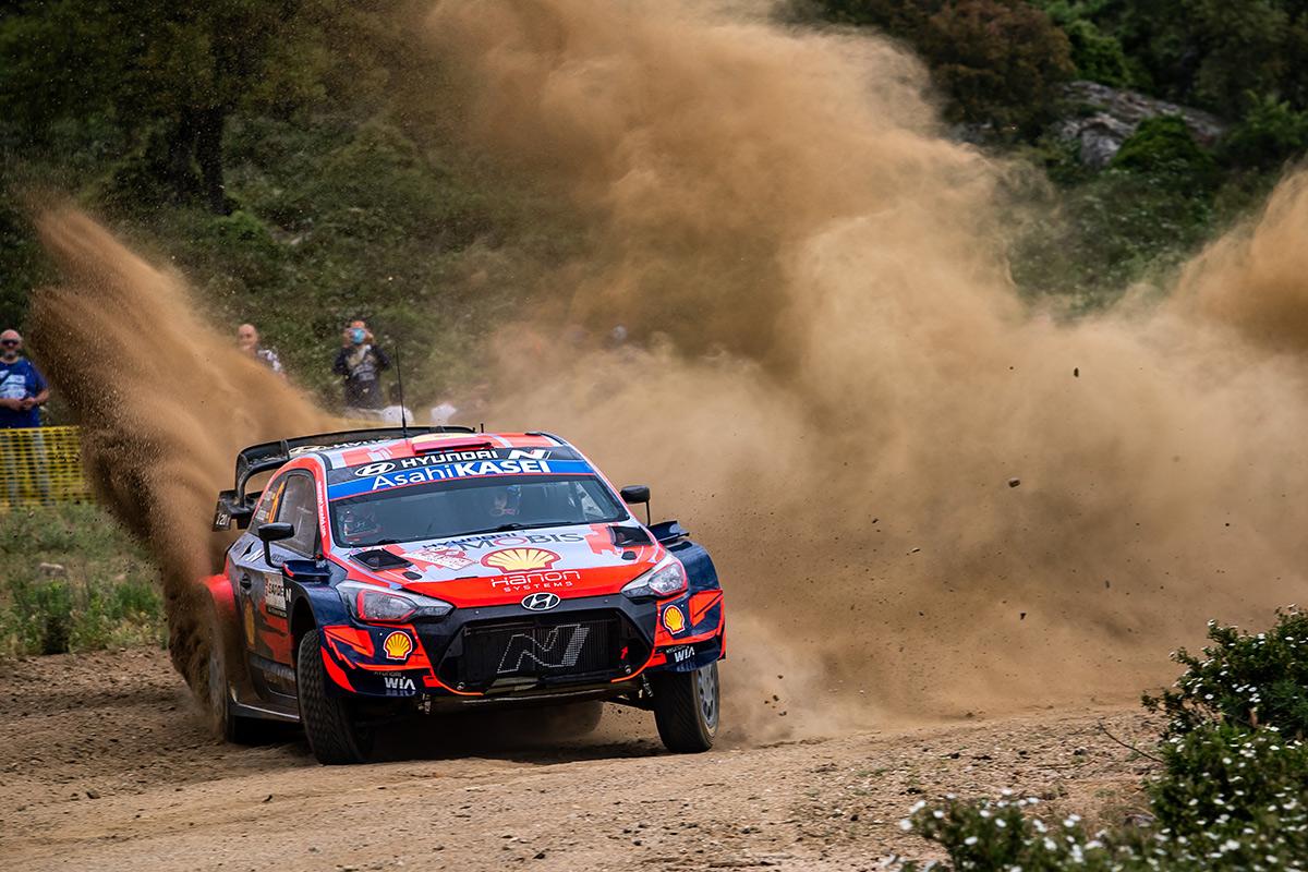 Дани Сордо и Борха Росада, Hyundai i20 Coupe WRC, ралли Сардиния 2021