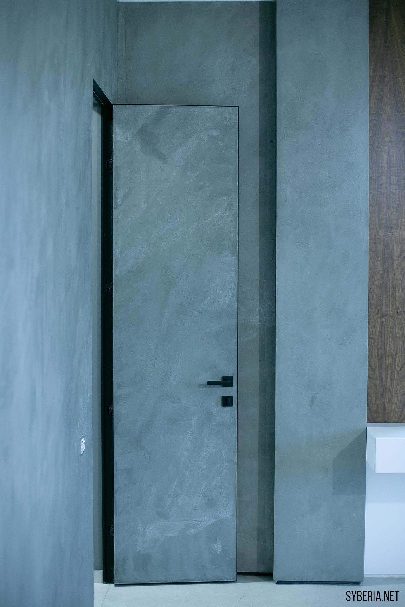 Скрытая дверь под декоративную штукатурку