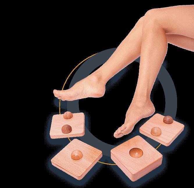 Тренажер для стабилизации и тренировки стопы Качай нога