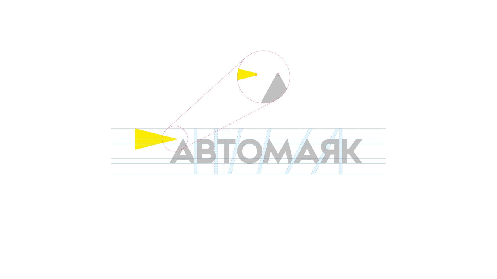 Логотип Автомаяк, разработка логотипа