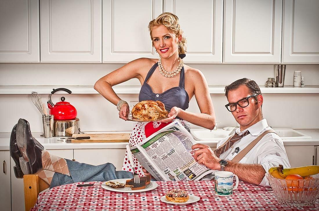 Днем, прикольные картинки про домохозяек