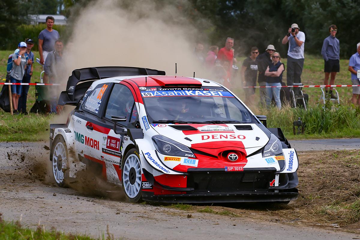 Калле Рованпера и Йонне Халттунен, Toyota Yaris WRC, ралли Ипр 2021