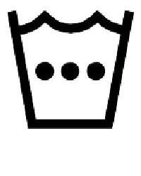 Символ на етикет за пране с много топла вода до 50 градуса