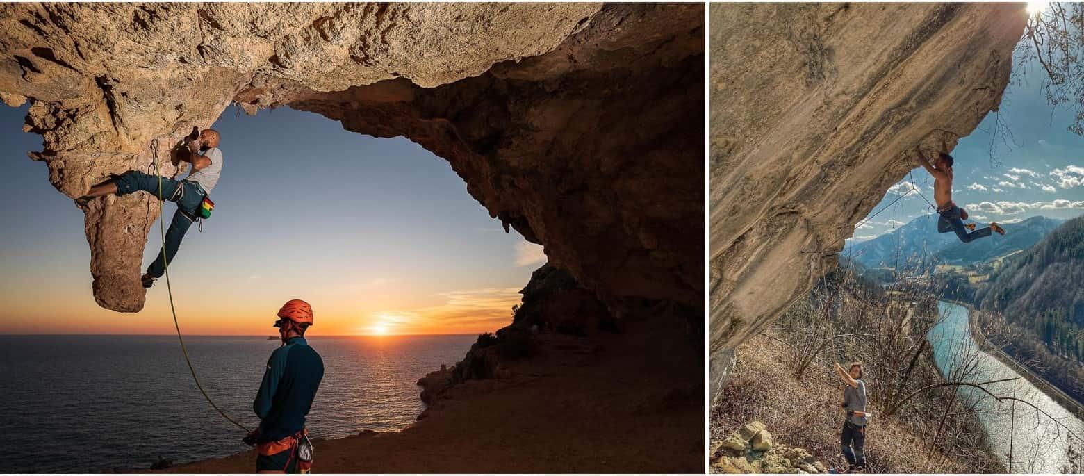 Занятия скалолазанием на естественном рельефе. Выезд на скалы.