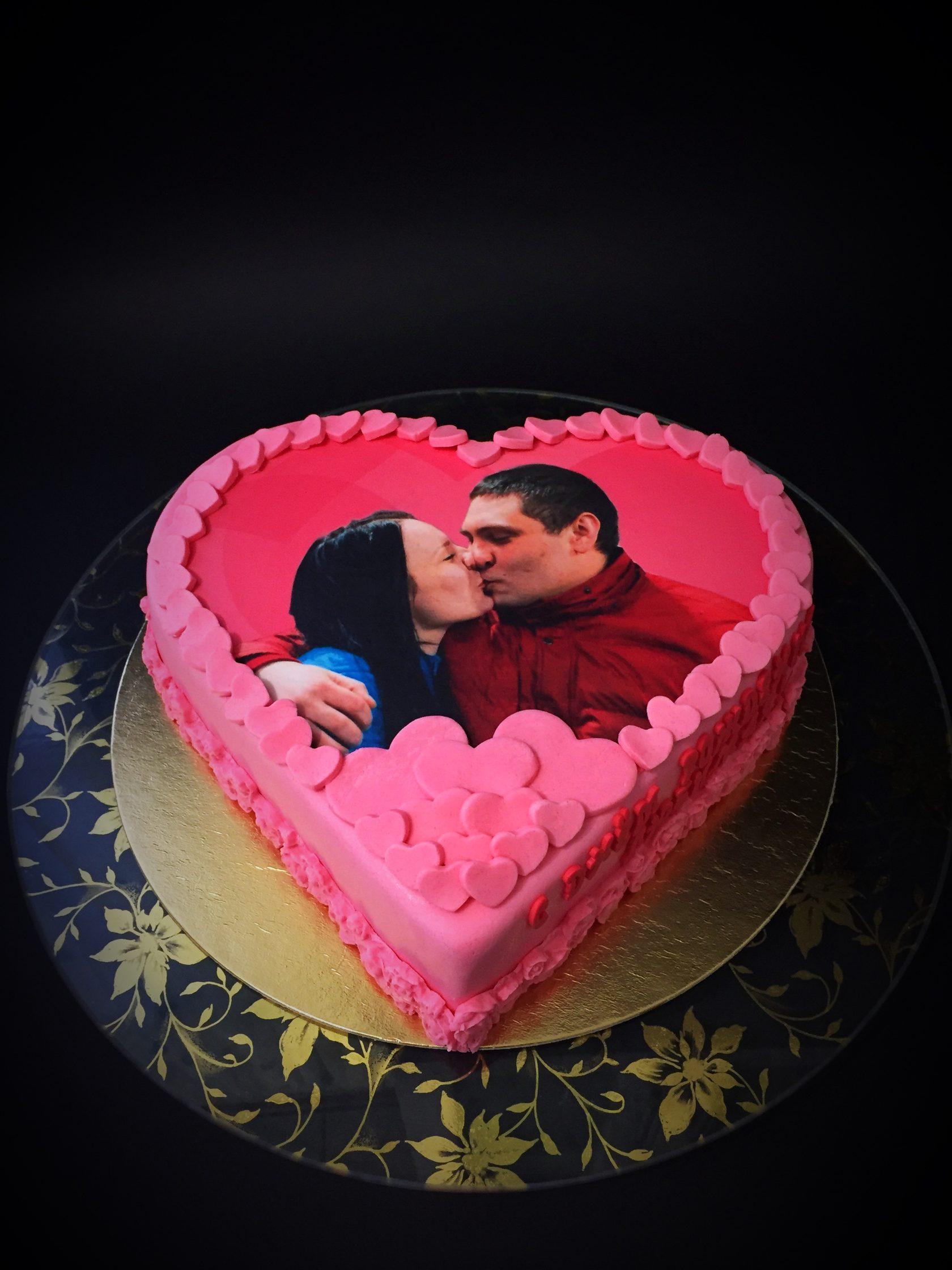 как делают торт с фотографией рамках