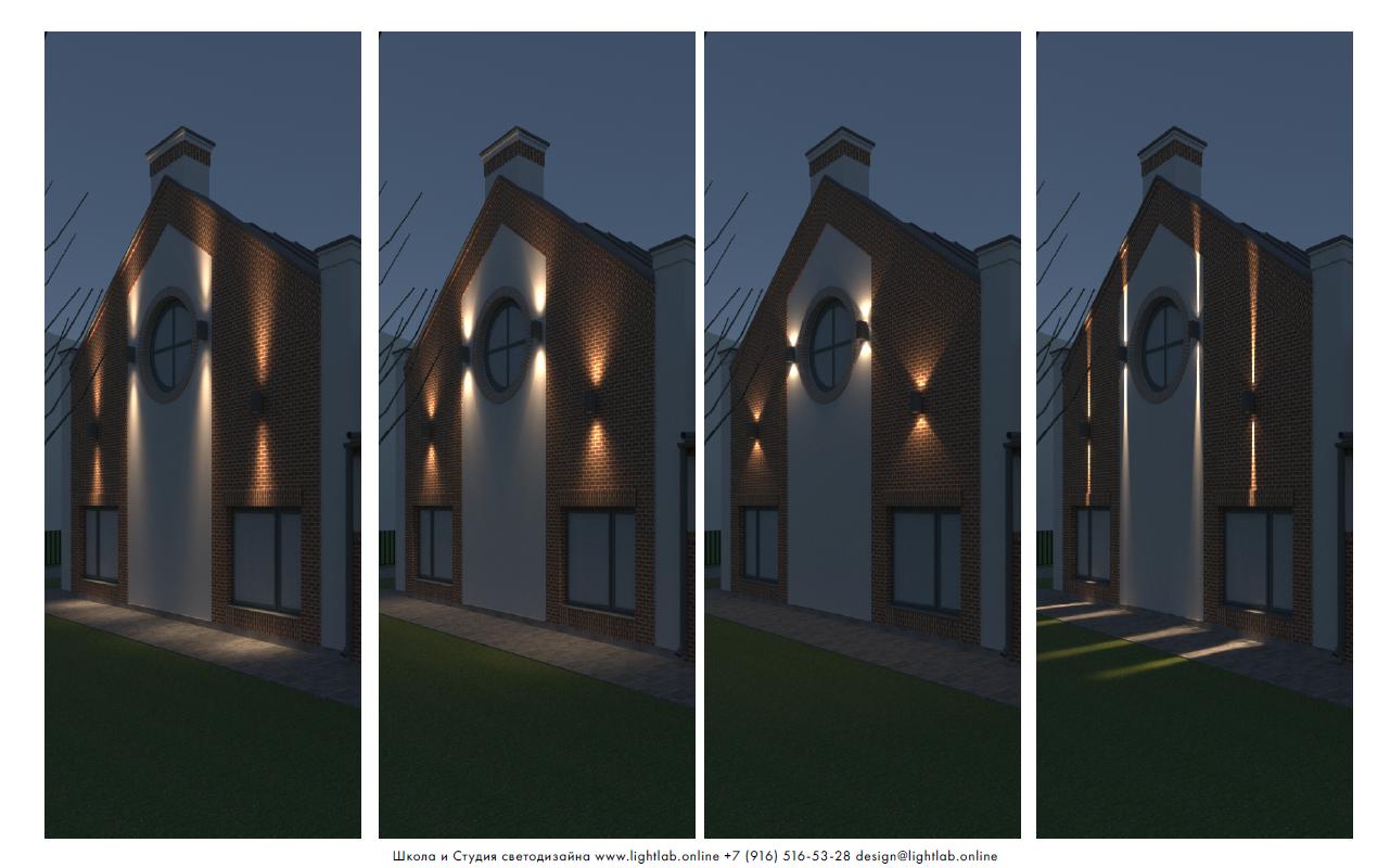 Сравнение светового распределения для двухлучевых светильников