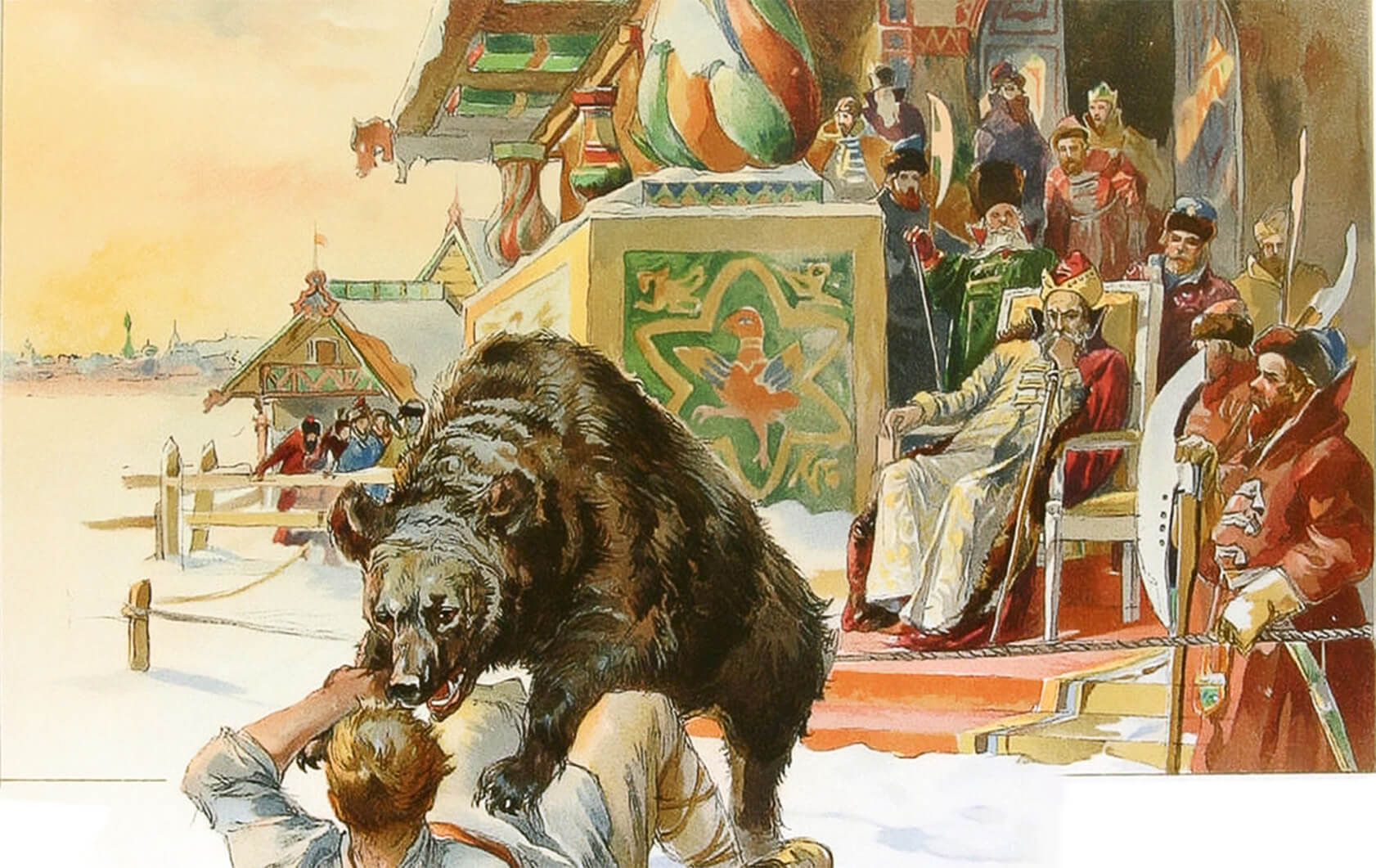 бой с медведем - русская забава