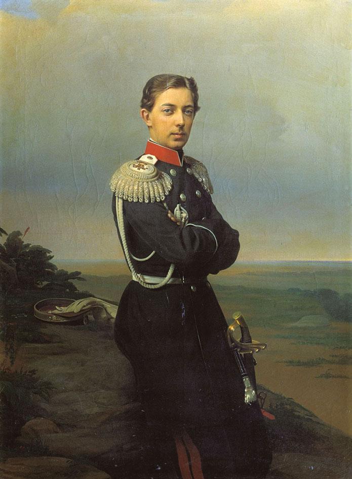 Николай Александрович, сын царя Александра II. Портрет