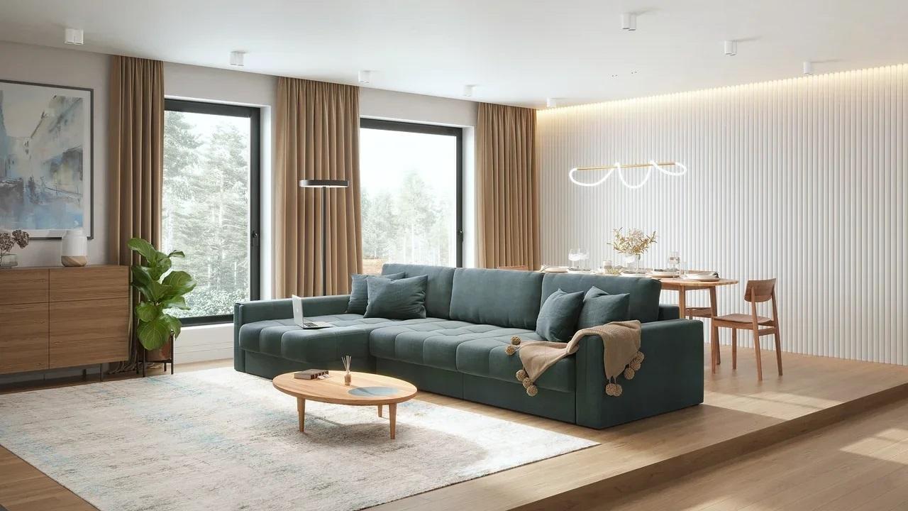 Модульный диван-кровать Брайтон, матрас с независимым пружинным блоком