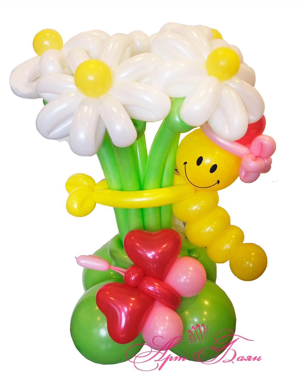 Цветок из воздушных шариков картинки