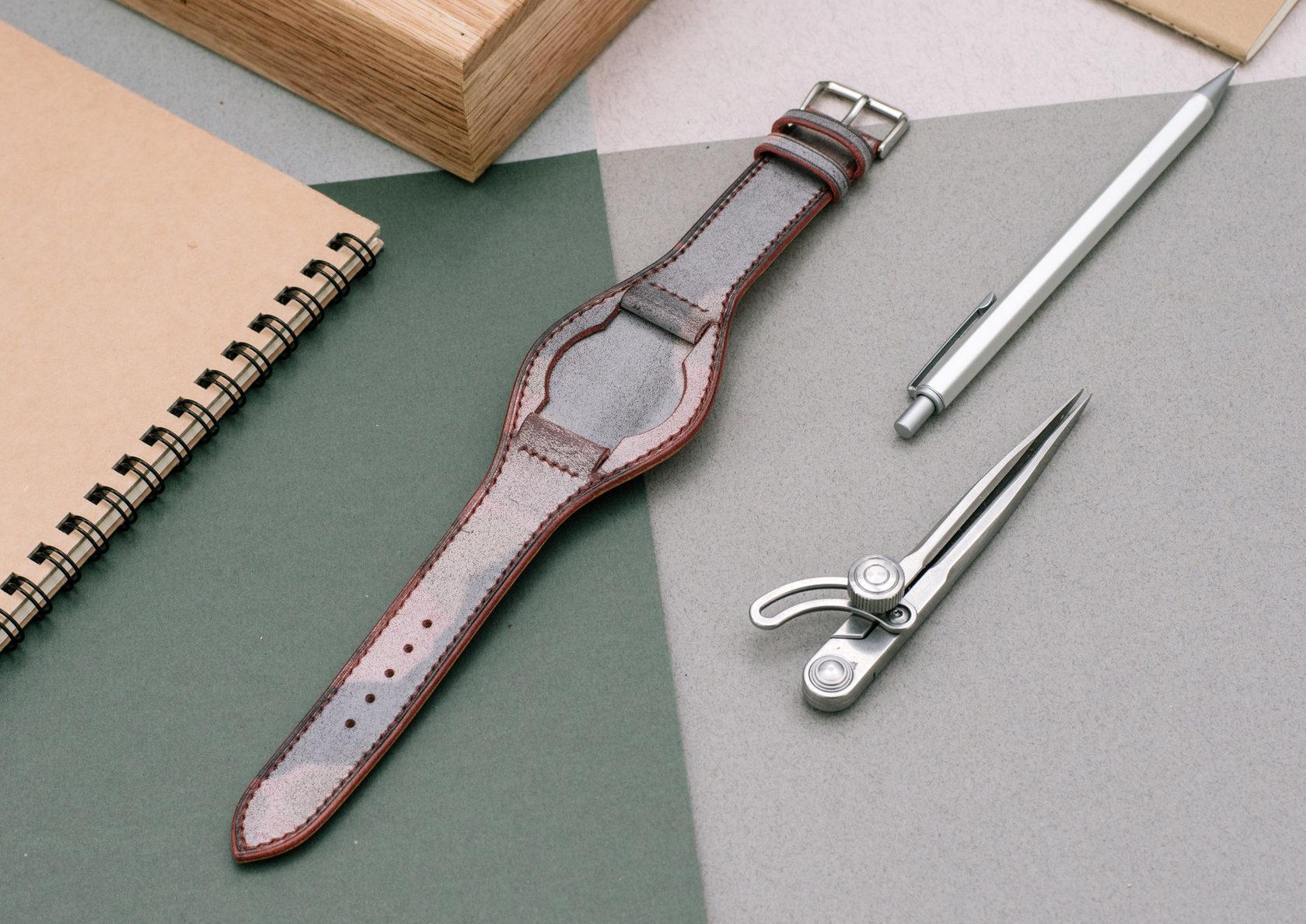 Ремень для часов Bund из кожи Camo Wax
