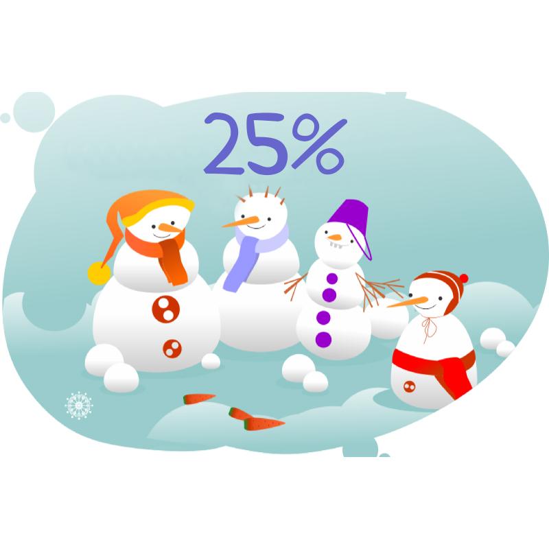 Задача на проценты со снеговиками