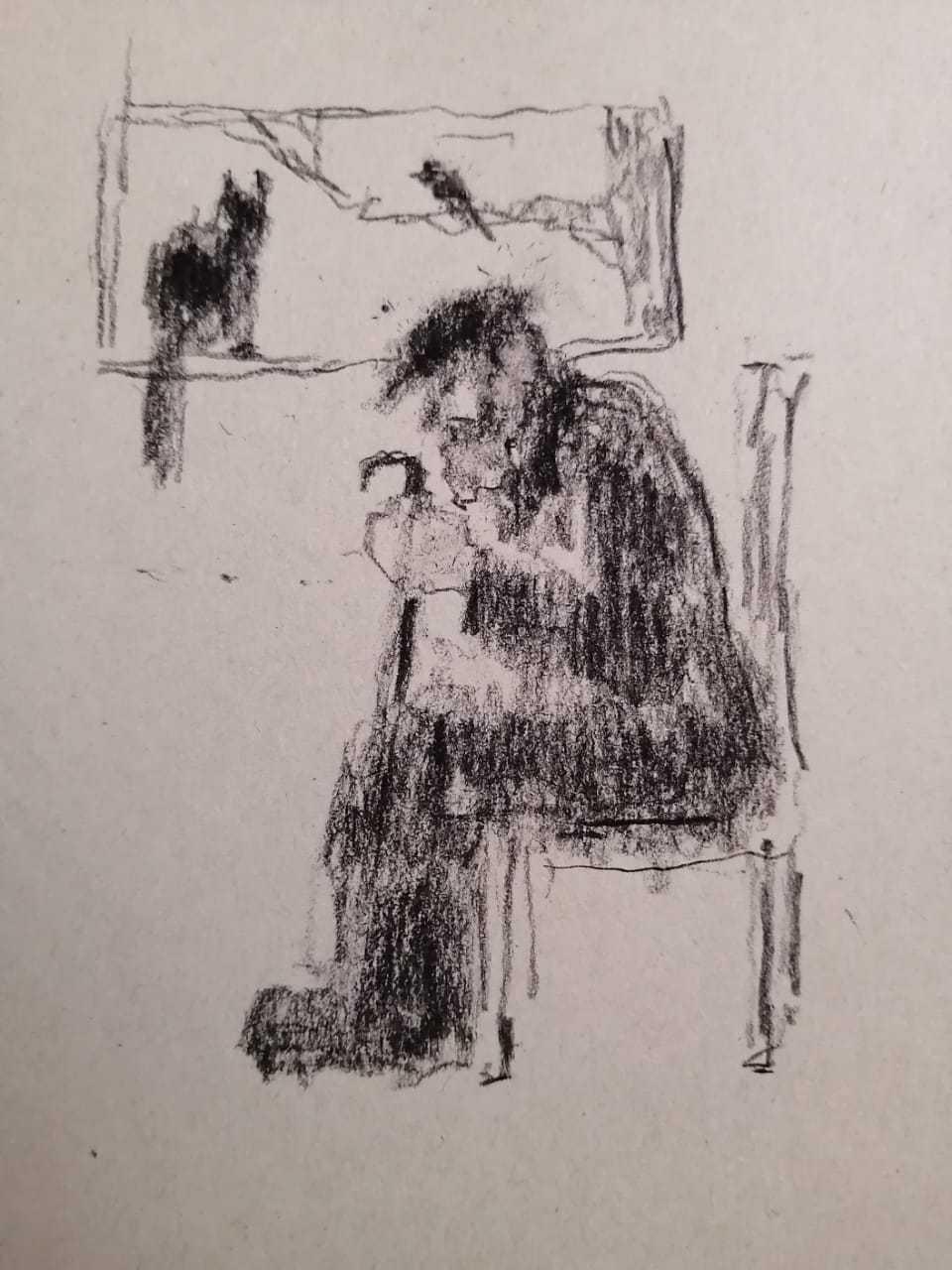 Макарова Ольга / тема «Одиночество» / уголь