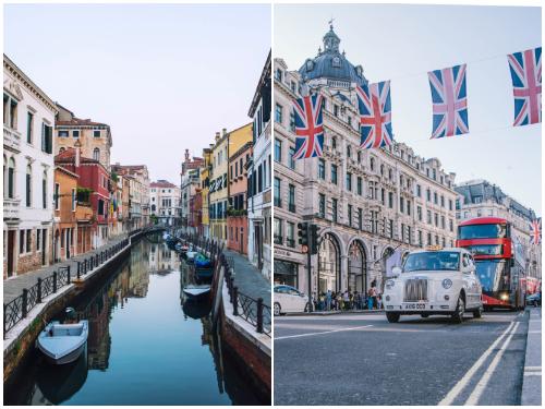 Лондон и Венеция в декабре