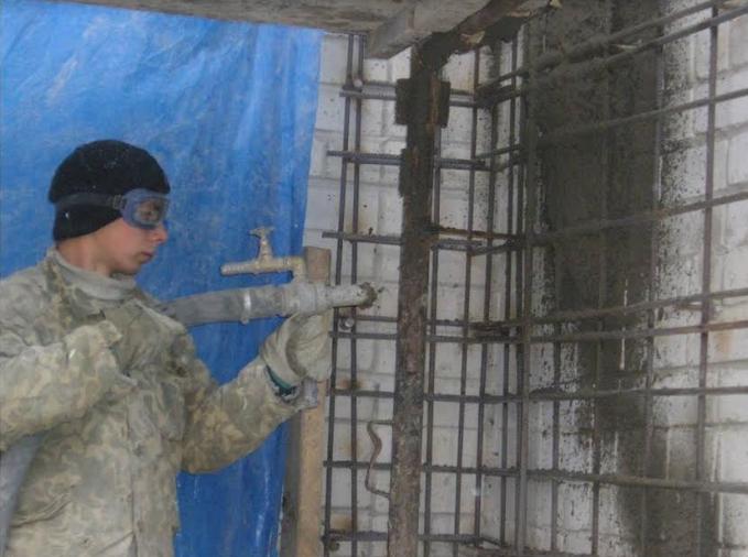 Торкретирование бетона цена м2 в москве марка сухой бетонной смеси