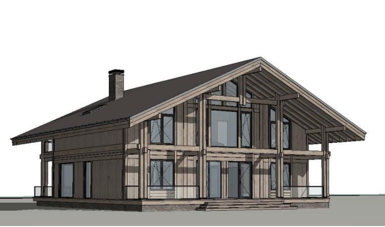 Архитектурный проект жилого дома (3D вид), г. Конаково, Тверская область