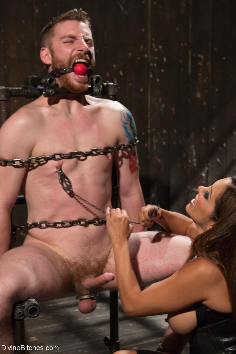 Femdom male nipple torture — pic 13