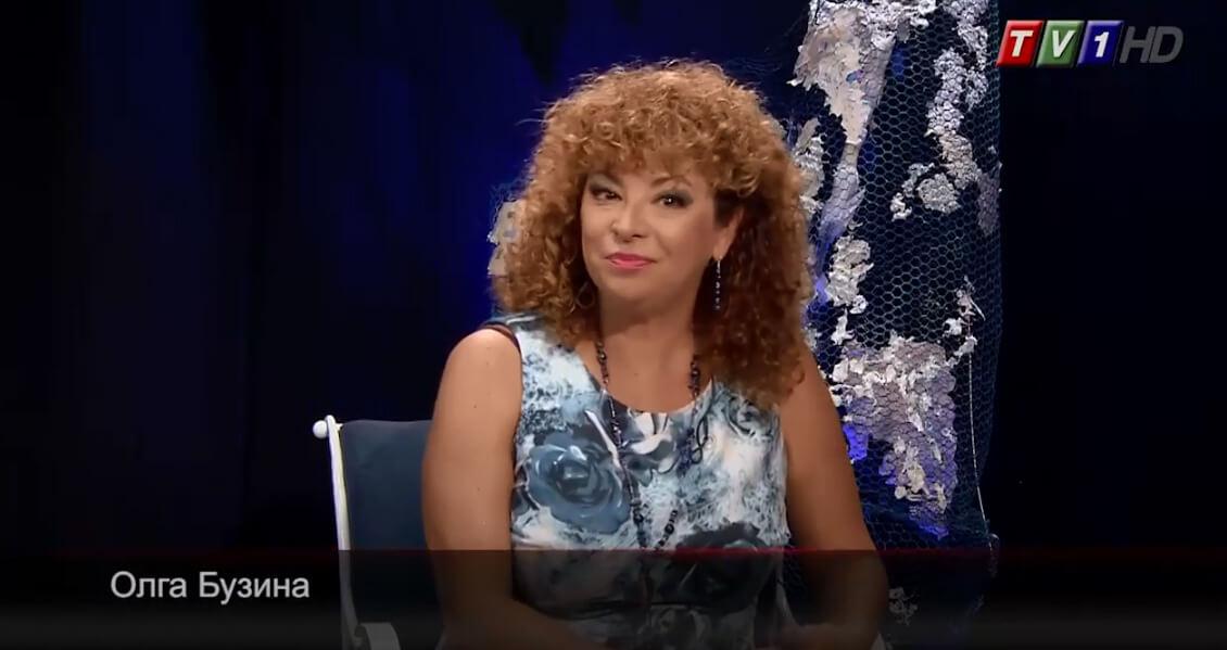 Олга Бузина е водеща на предаването Анфас по TV1
