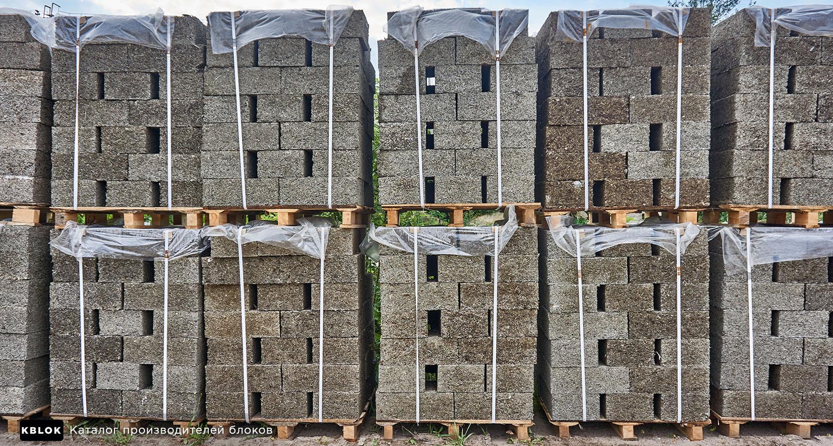 Блоки на поддонах