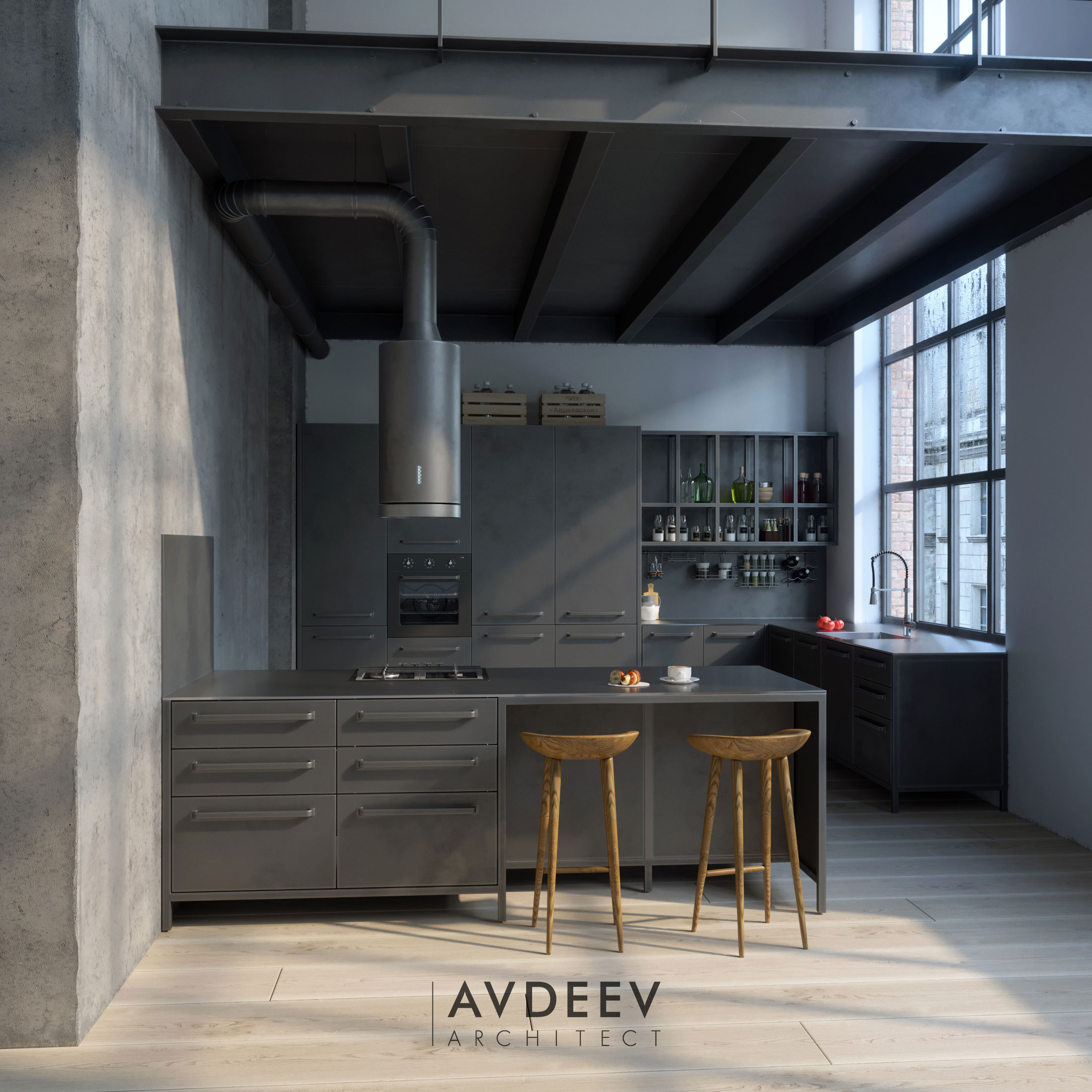 дизайн кухни студия AVDEEV ARCHITECT