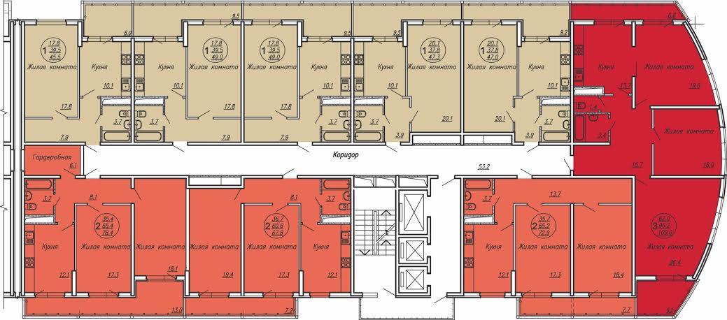 Планировки квартир ЖК Маршал от застройщика в Краснодаре