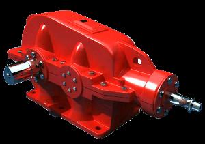 Коническо - цилиндрический одноступенчатый редуктор КЦ1-200, КЦ1-250, КЦ1-300, КЦ1-400, КЦ1-500