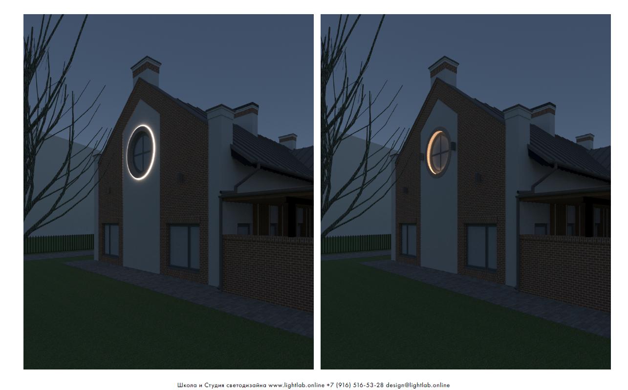 Сравнение светового эффекта от светодиодной ленты и тороидального светильника
