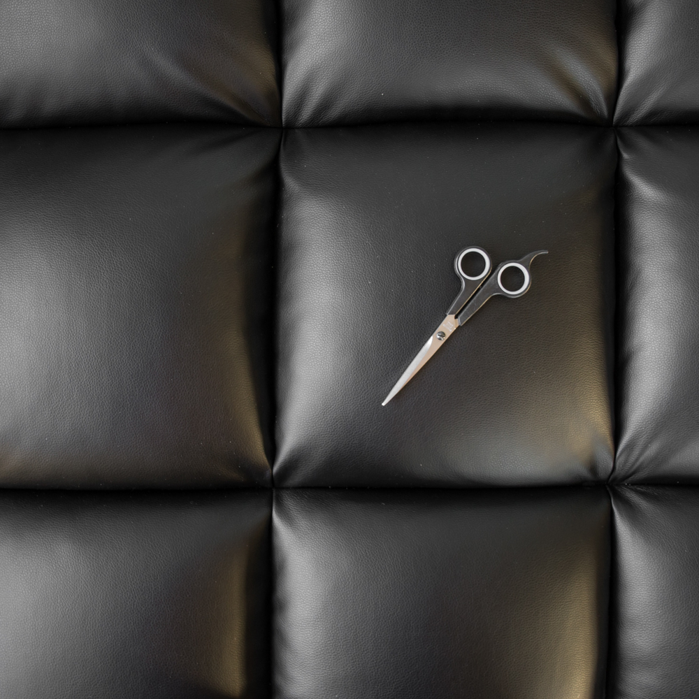 scissors on the couch