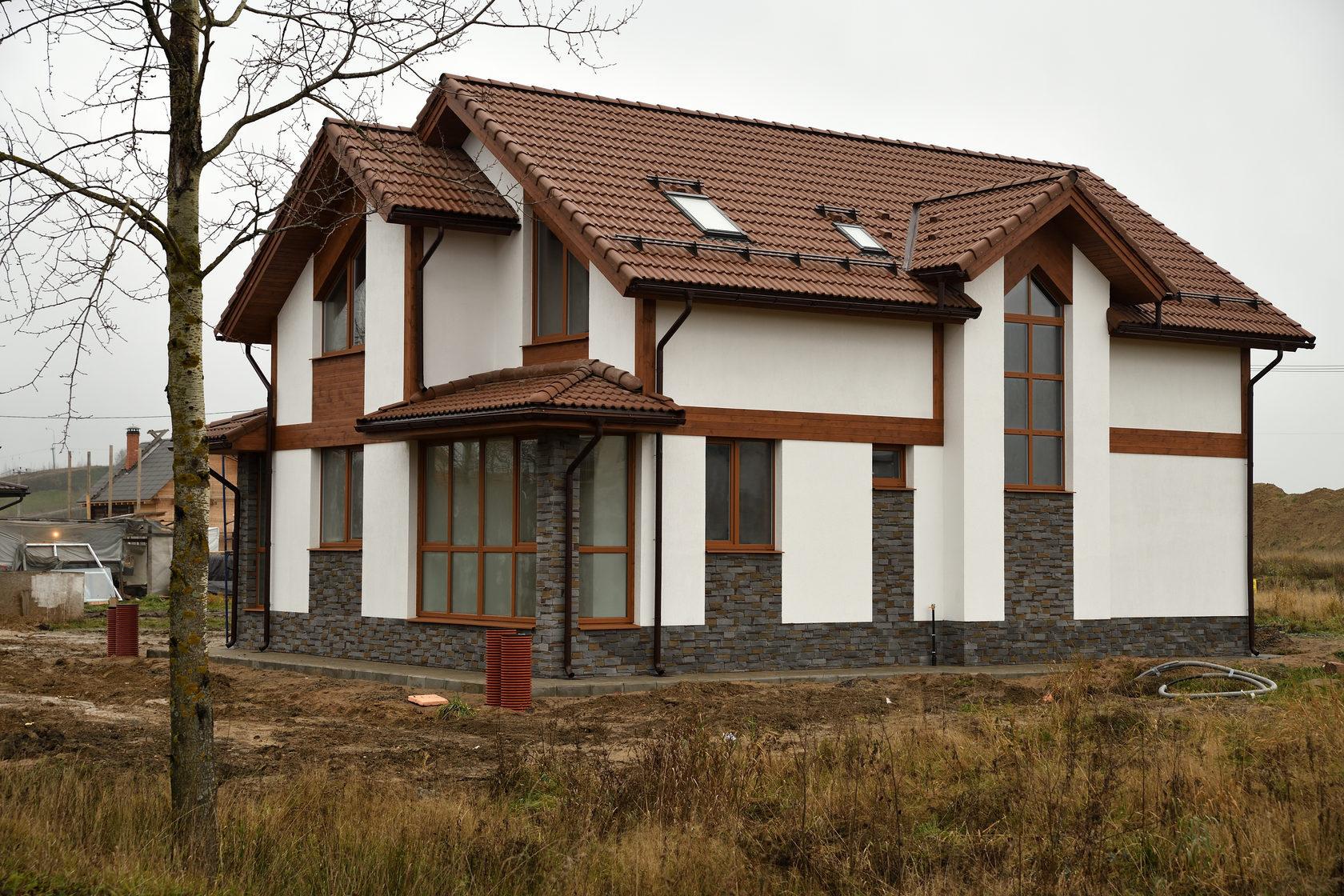 фото готовых построенных домов из газоблока посыпают