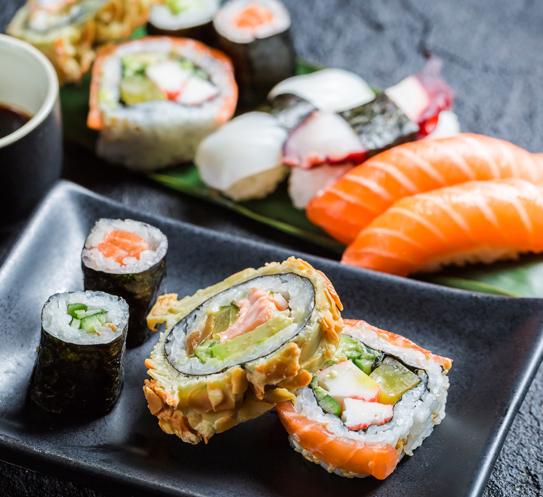 Урамаки с ориз Krina и риба тон