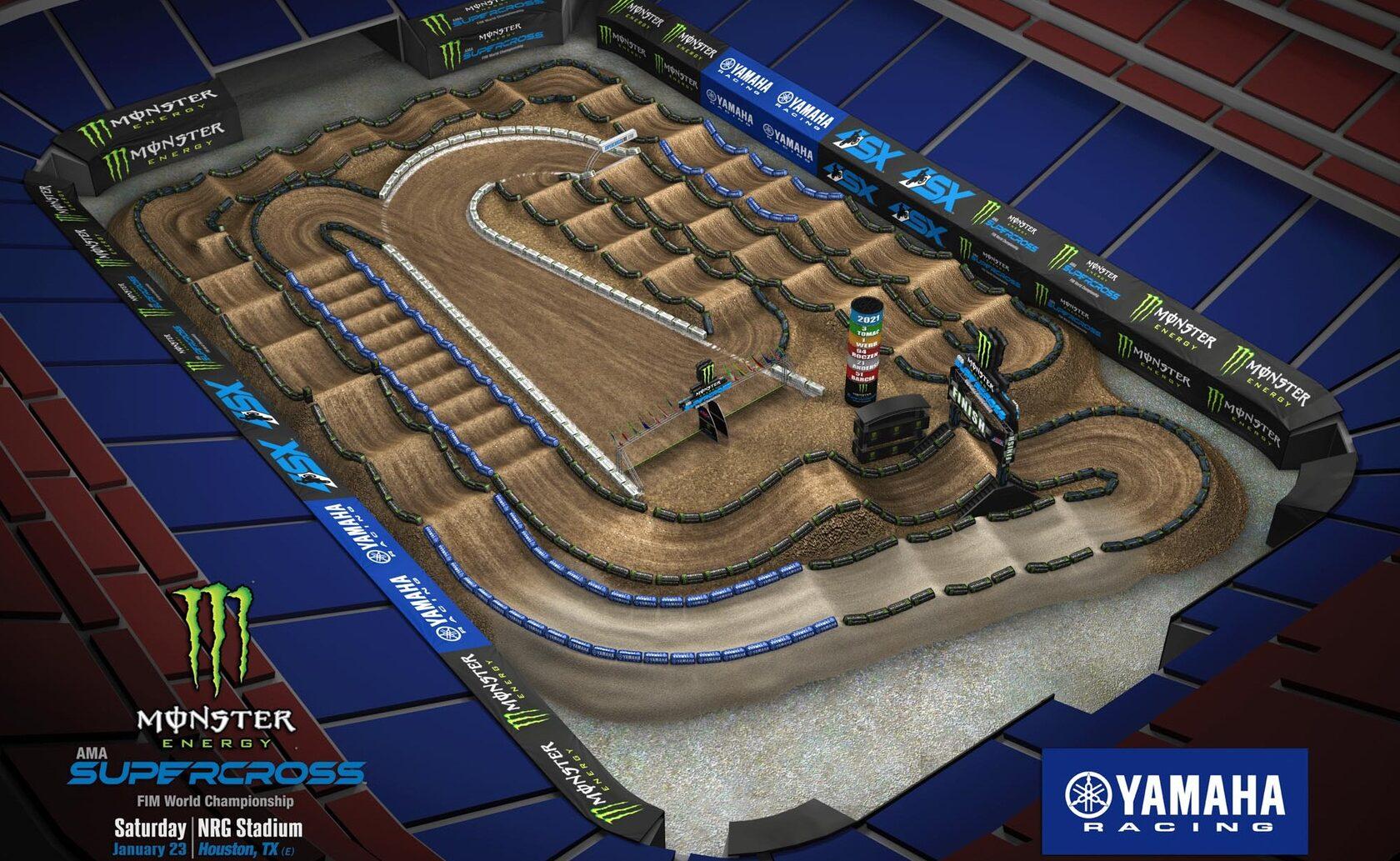 АМА Суперкросс 2021: Анимация трека - Хьюстон 3