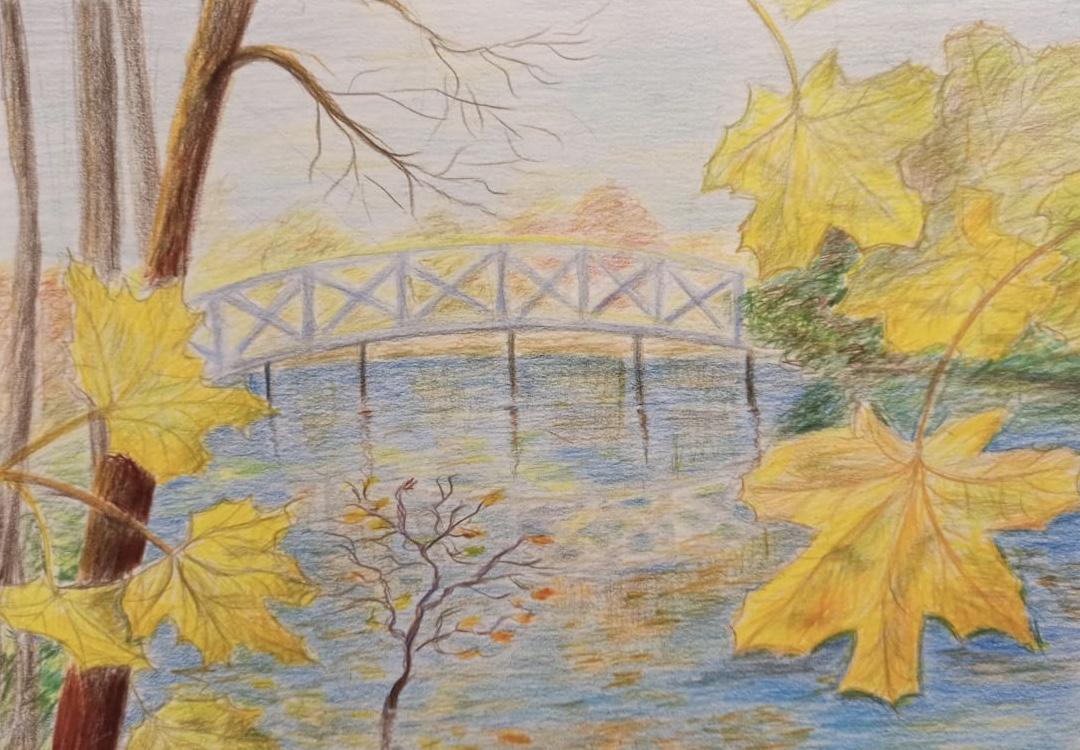 Фролова Лариса / тема «Поэзия»: «Осенняя пора очей очарованье…» А. С. Пушкин / цветные карандаши
