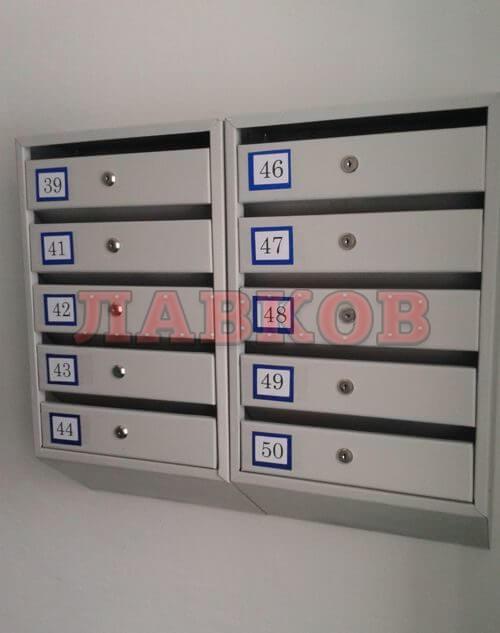 Секционный почтовый ящик Подъезд Люкс 5