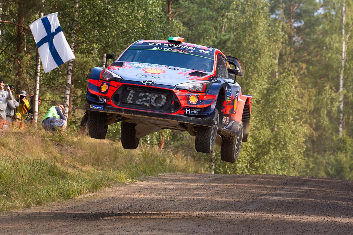 Крейг Брин и Пол Нейгл, Hyundai i20 Coupe WRC, ралли Финляндия 2019