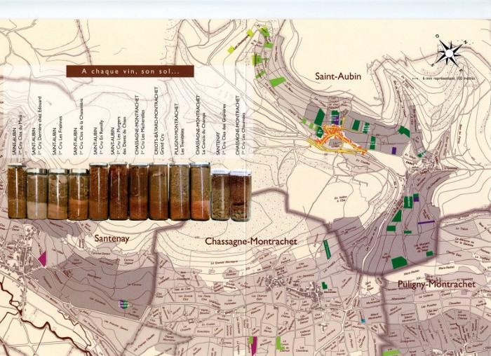Map of Domaine Hubert Lamy vineyards