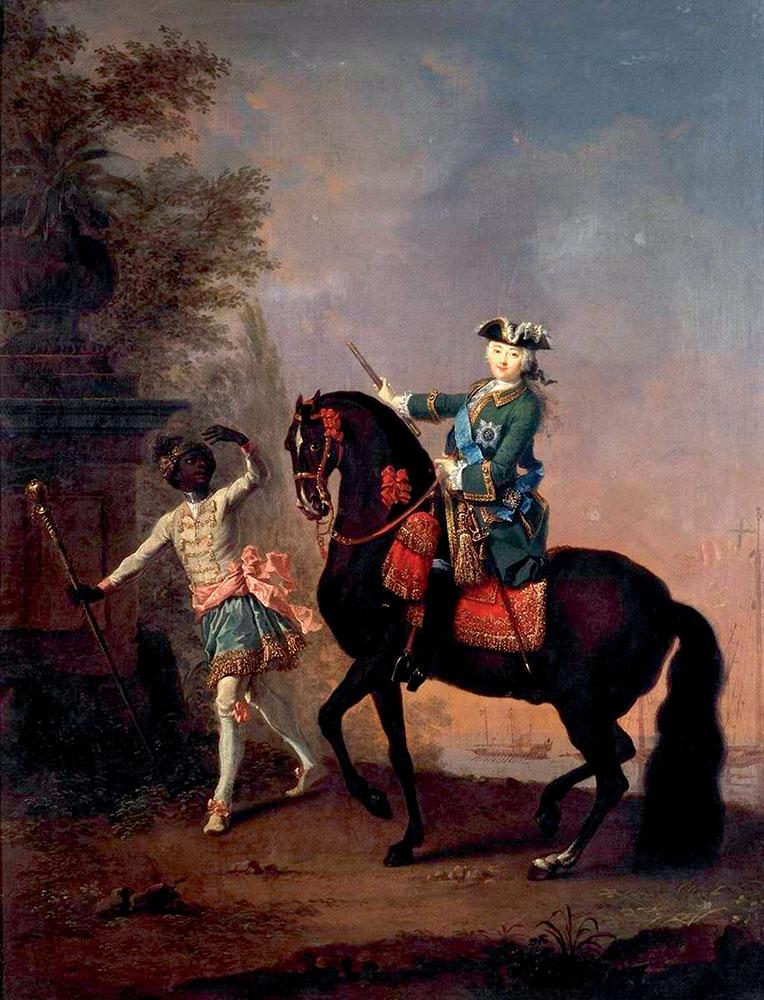 Пфандцельдт Лука Конрад. «Елизавета Петровна на коне»