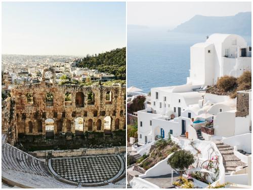Афины и Санторини в феврале
