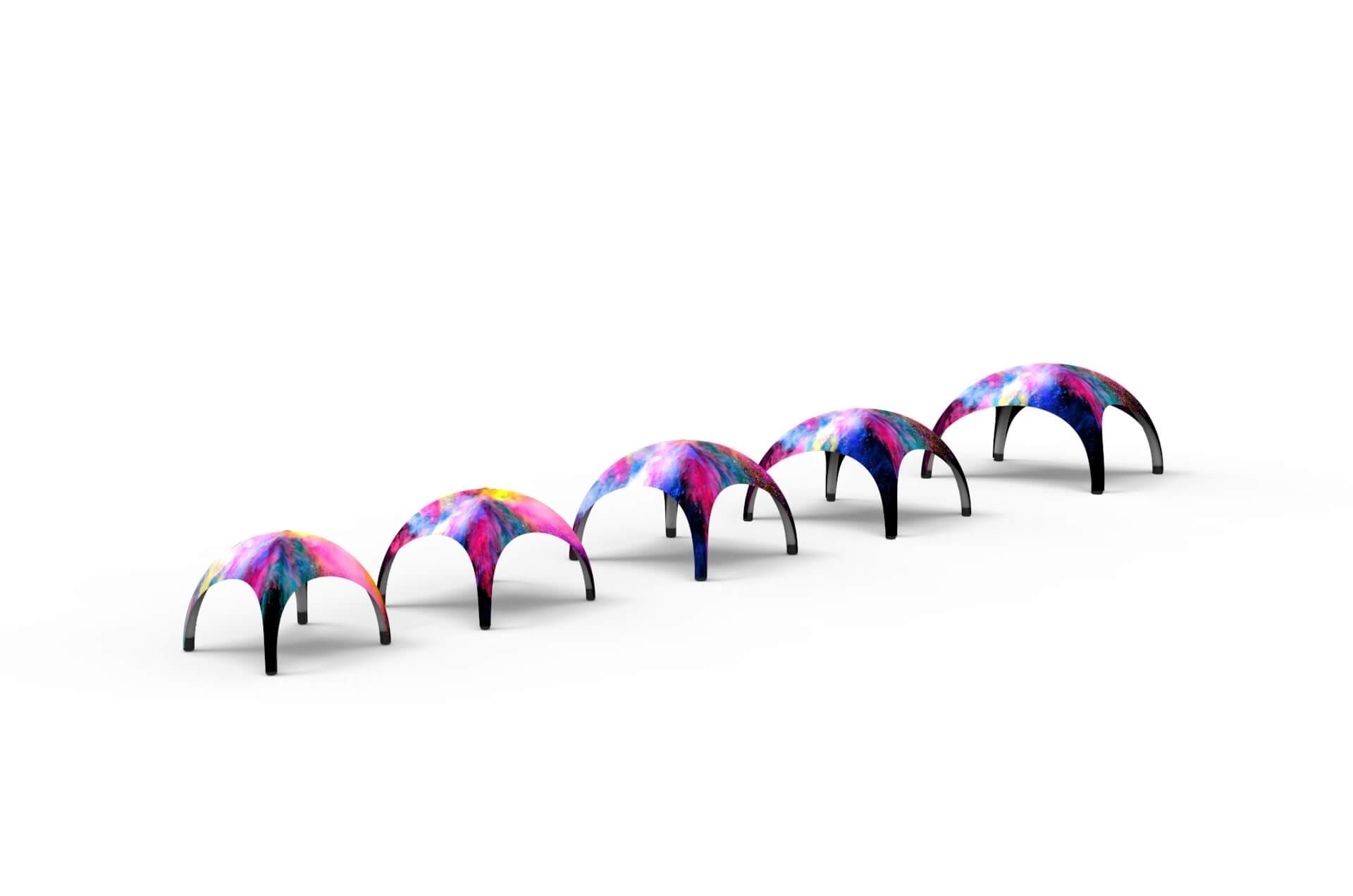 Производство надувных тентов и шатров с логотипом под заказ Farberg
