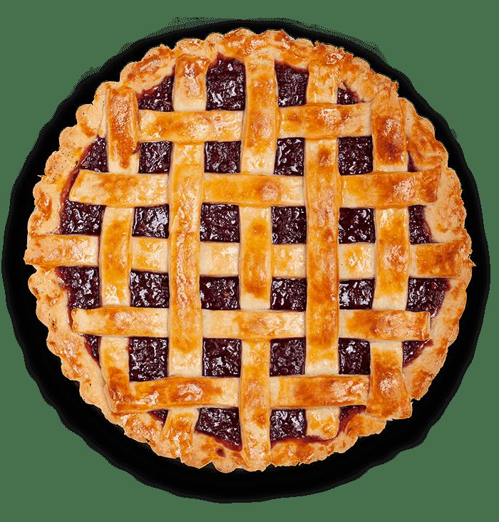 картинка пирога сверху самом