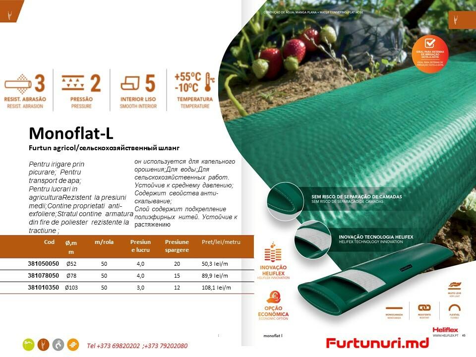 Furtun lay-flat monoflat-L