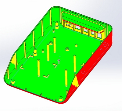 Эскизная конструкция корпуса прибора