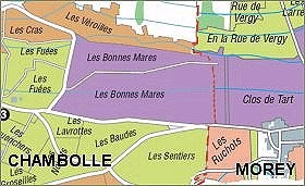 Bonnes-Mares Grand Cru map