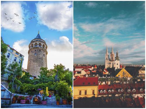 Стамбул и Загреб в октябре